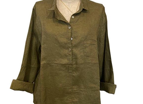 Linen Pop Over Shirt