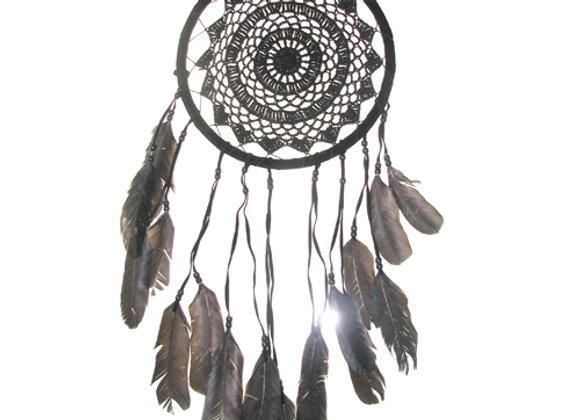 Dream Catcher Black Feather