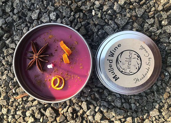 Soy Candle travel tin, Mulled Wine