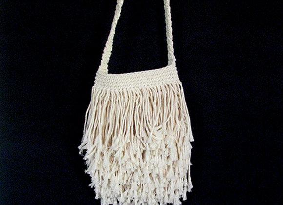 Mecrame Bag Cream 28x75cm