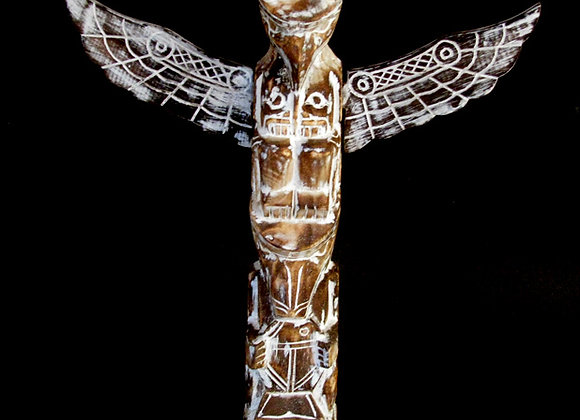 Totem pole 30cm clear wash