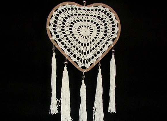 Dream catcher heart with
