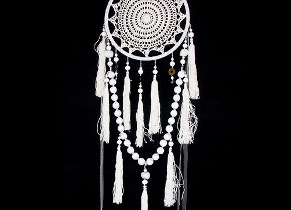 Dream Catcher white w/beads