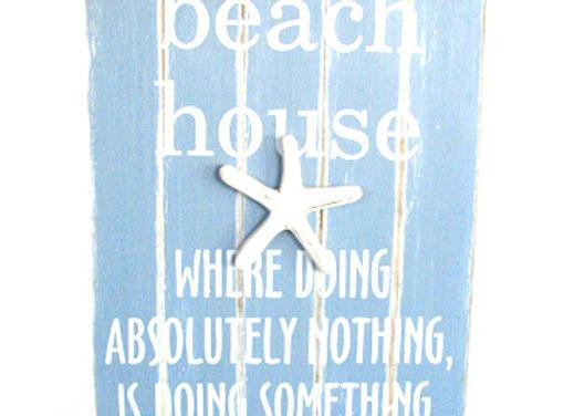 Beach house 45x35cm w/starfish