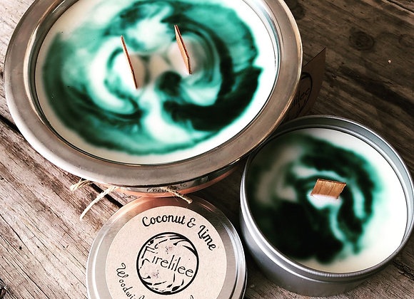 Soy Candle travel tin, Coconut & Lime