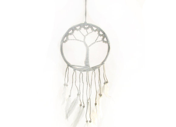 Dream catcher tree of life with feathers.