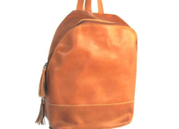 Leather Back Pack, Cognac