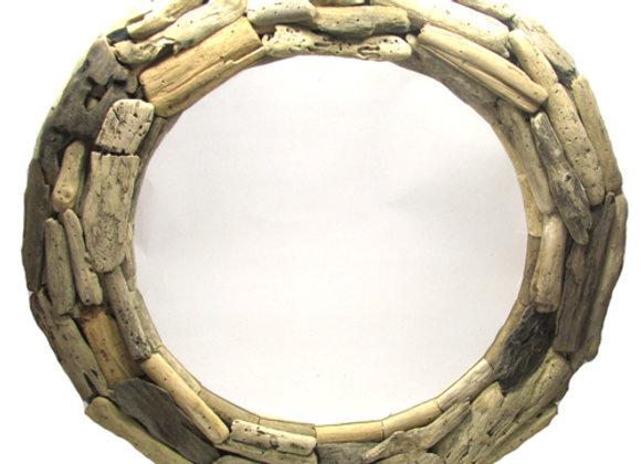 Mirror, Round Driftwood 65cm