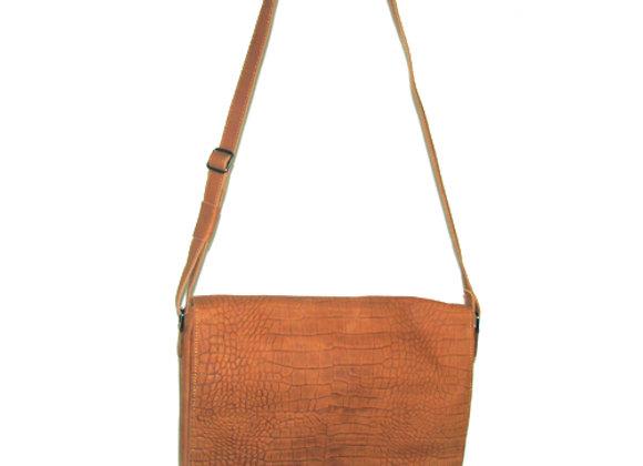 Leather Messenger Bag,  Cognag