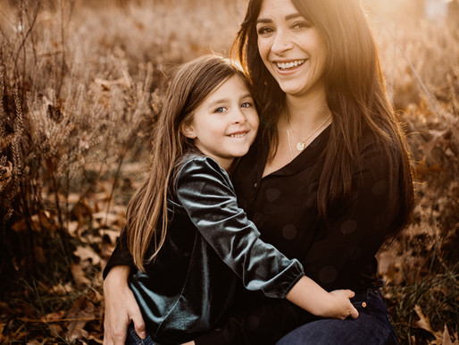 Mom and daughter family fall session.