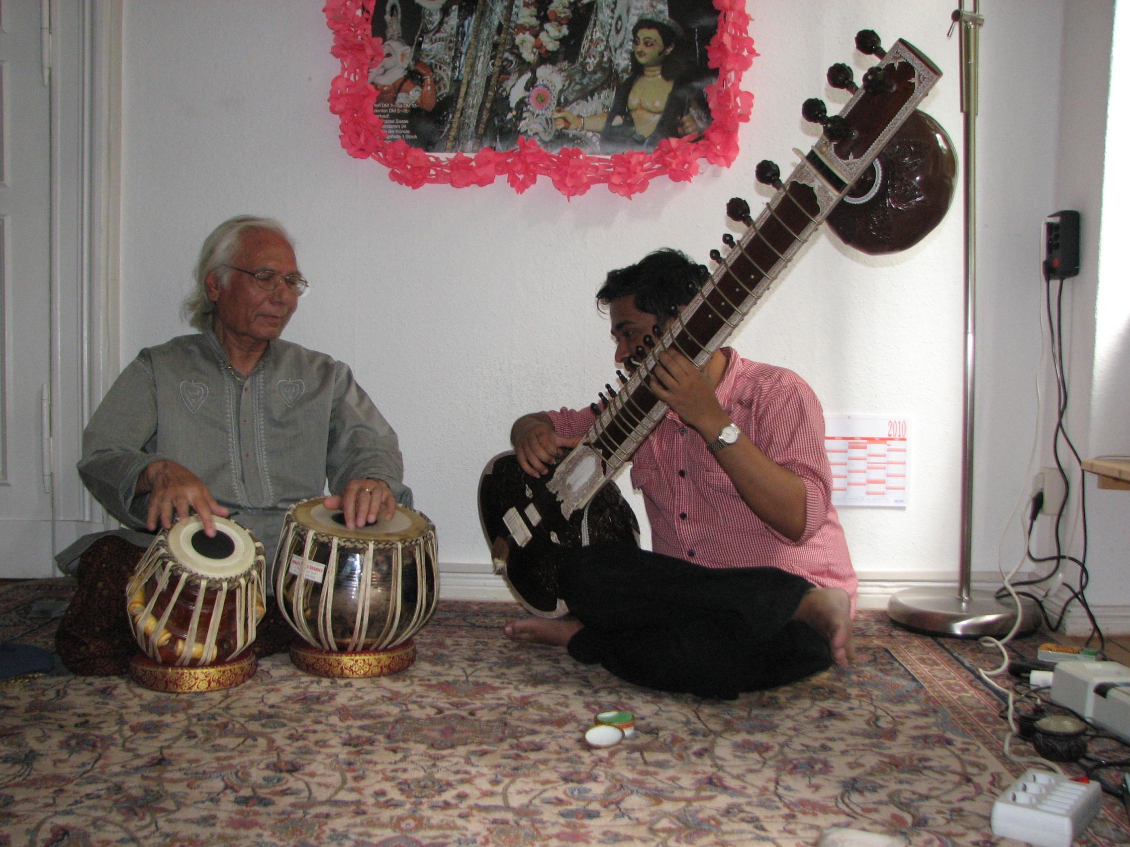 With Pt. Sankha Chatterjee in Berlin