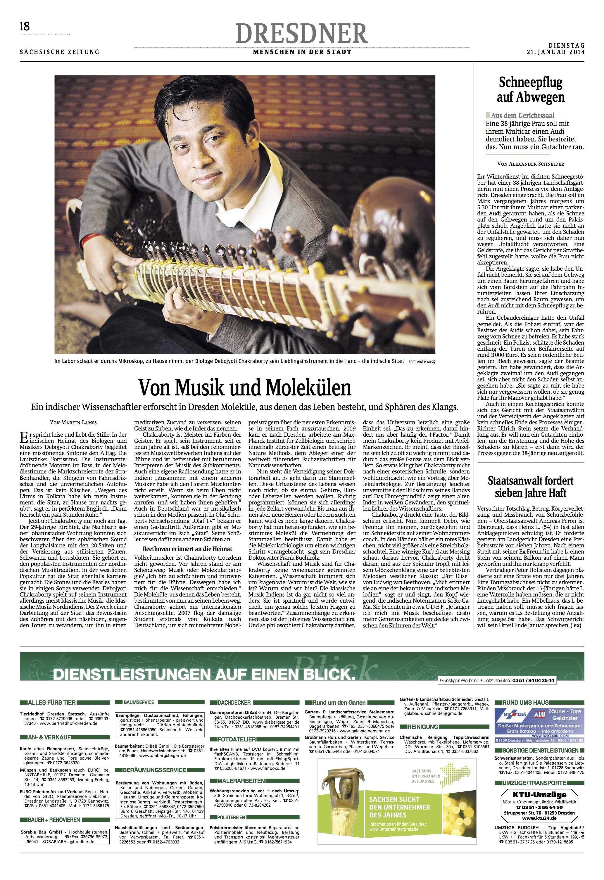 Sachsische Zeitung, 24.01.2014