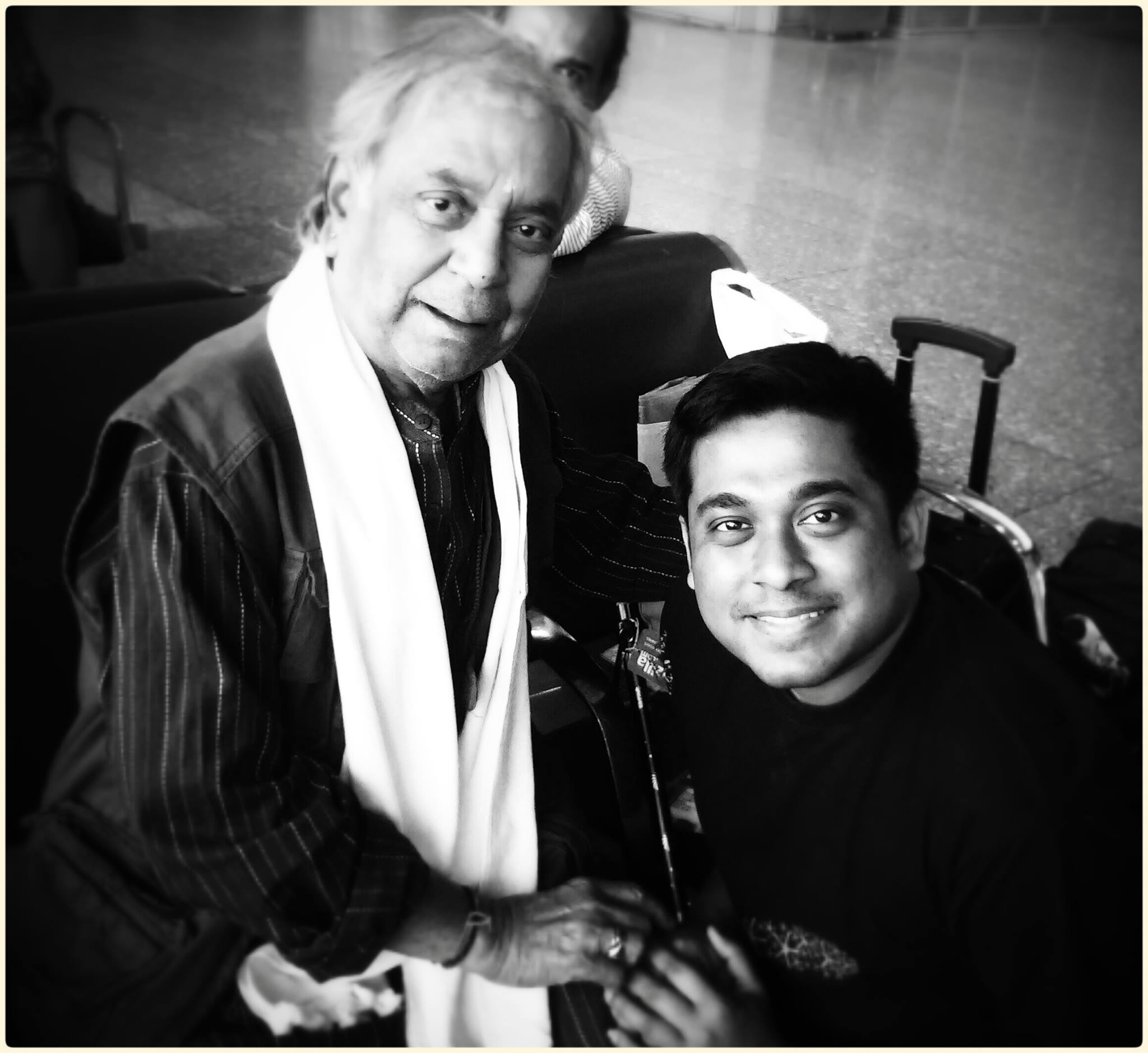 With Pt. Birju Maharaj in Kolkata