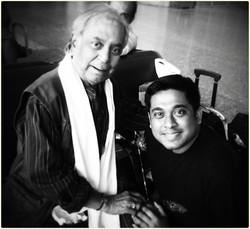 With Pt. Birju Maharaj in Kolkata