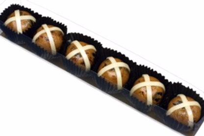Marzipan Hot Cross Buns