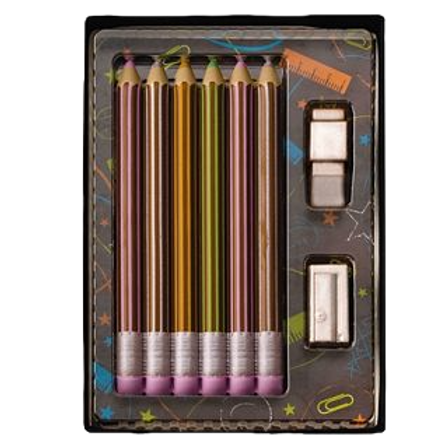 Chocolate Pencil and Rubber set.