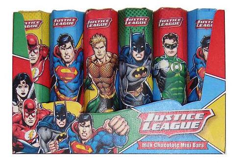 Justice League 6 milk chocolate mini bars