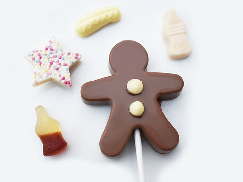 Gingerbread Man Chocolate Lolly
