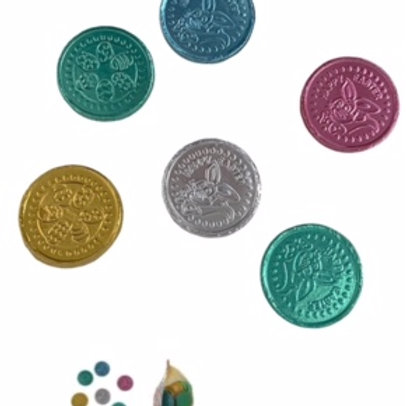 Milk chocolate Coloured Easter Coins