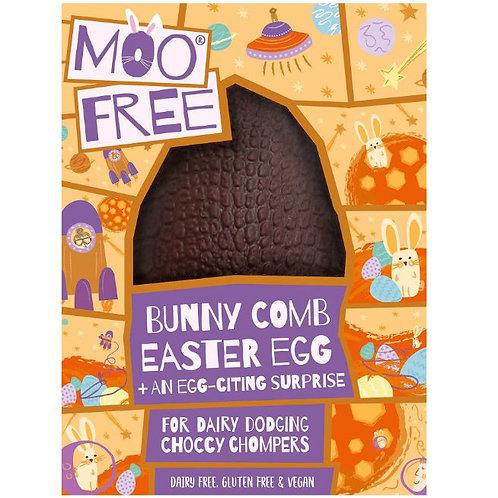 Moo free Alternative milk chocolate bunnycomb Easter egg with choccy chum surpri