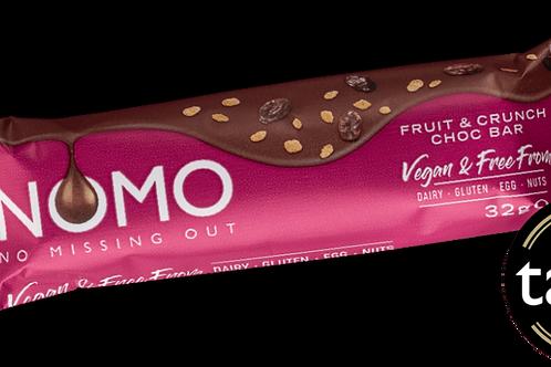 Nomo Vegan & Free From Fruit & Crunch Choc Bar