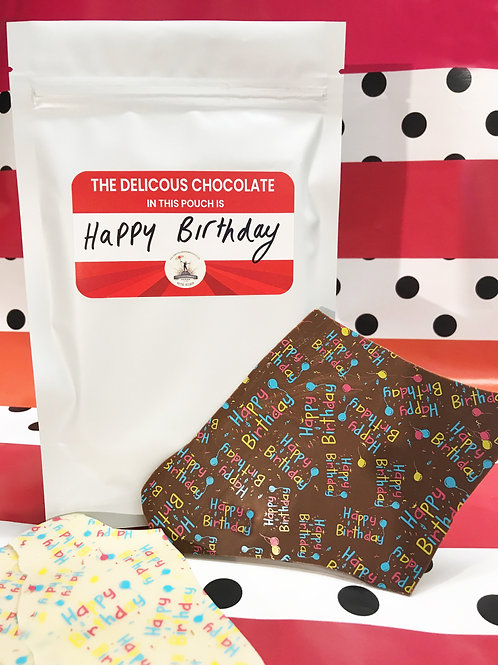 Chocolate Birthday Pouch