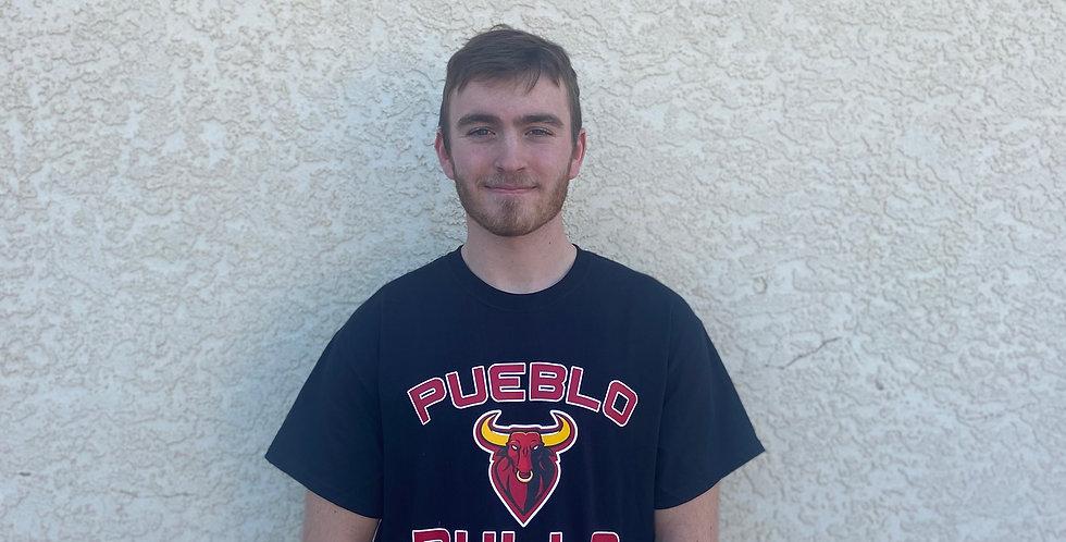Pueblo Bulls Black T-Shirt