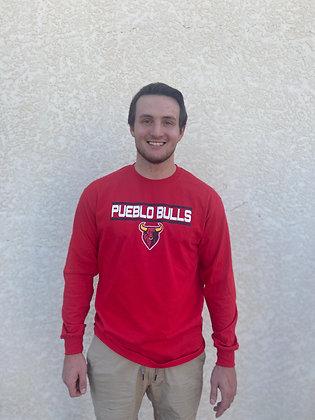 Pueblo Bulls Red Long Sleeve