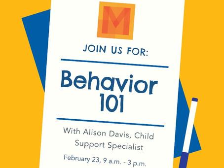 Behavior 101 - February 23