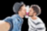 zwei Männer küssen Tonic Water Flasche von Franz von Durst