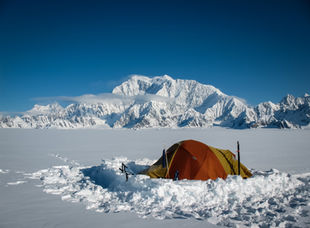 Winter Camp on Mount Logan