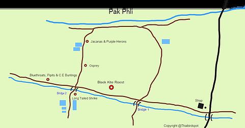 Pak Phli-Map of Pak Phli.