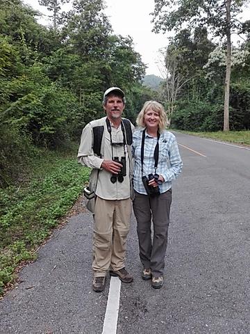 Mario and Rhonda birding in Thailand