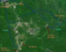 Khao Yai National Park-Map of Khao Yai.