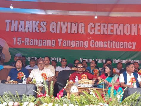 SKM thanks giving programme at Rangang Yangang