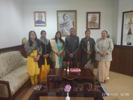 SKM Nari wing submits memorandum to Governor on CM's remark