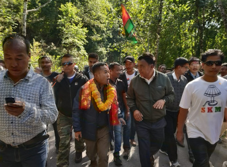 Golay marches off on Parivartan Sankalp Yatra
