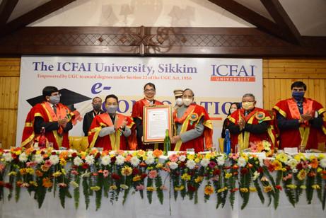 846 students receive degrees in ICFAI Univ Sikkim e-convocation