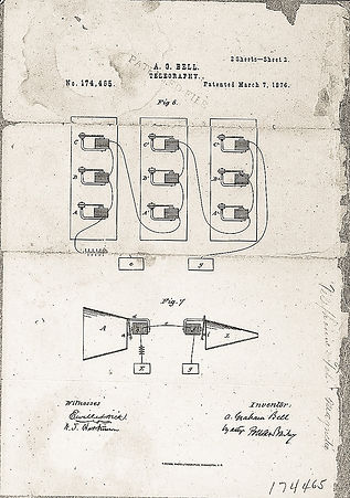 First Telephone Patent Drawing