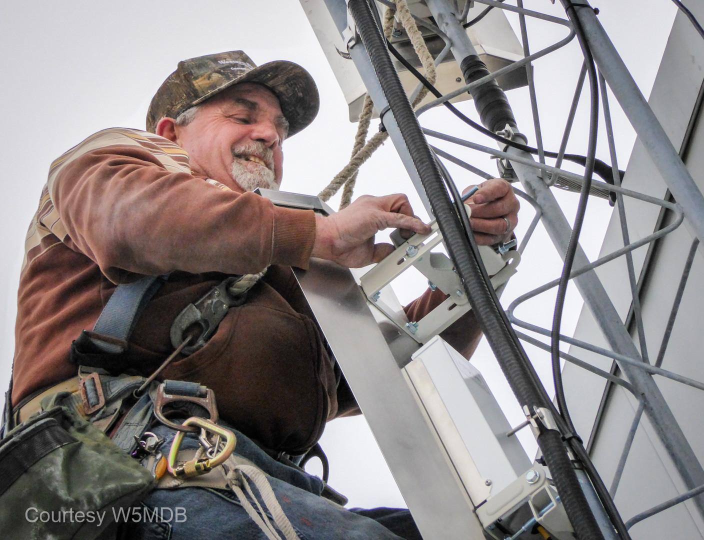 Jeri Stone, master tower climber.