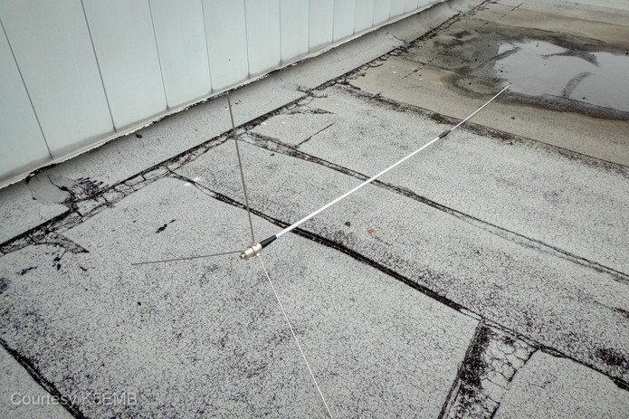 The Diamond CP22E 2m antenna waiting for installation.