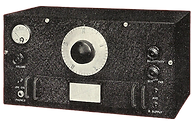 1934 HRO Prototype showing the receiver with AGS style knobs, a volume control, a single coil frequency graph, no S-meter switch and many other differences from the actual production HRO receiver.