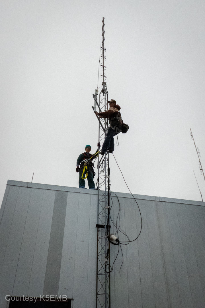 The antenna is mounted.