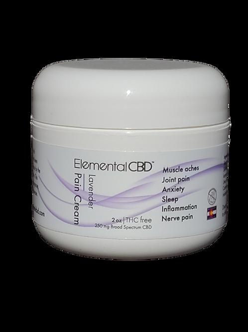 CBD Pain Cream Lavender Scented 2oz