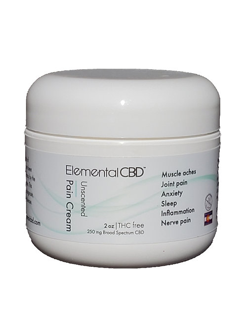 CBD Pain Relief Cream unscented 2oz