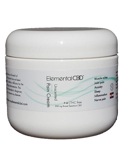 CBD Pain Relief Cream unscented 4oz