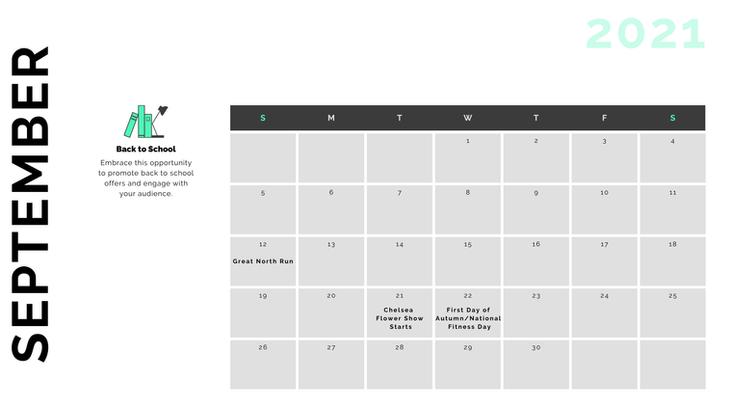Retail Marketing Calendar 2021 - September