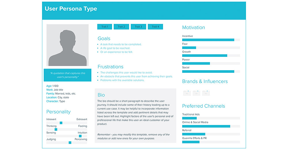 Xtensio Buyer Persona Template