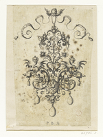 One print of Paul Birckenhultz's jewellery design from a suite of six plates. ca. 1600, Frankfurt.