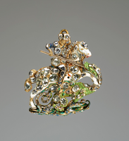 The enamelled gold Great George, setting with rose-cut diamonds. 1661.